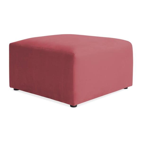 Červenorůžová třímístná modulová pohovka s podnožkou Vivonita Velvet Cube