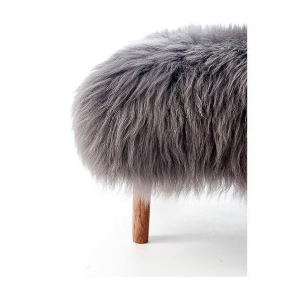 Stolička z ovčí kůže Bonwen Slate Grey