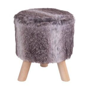 Šedá stolička z umělé kožešiny House Nordic Vilnius, ø30cm