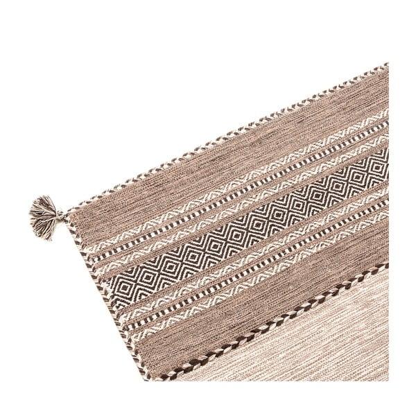 Béžovohnědý ručně tkaný koberec Navaei & Co Kilim Tribal 105, 90x60cm
