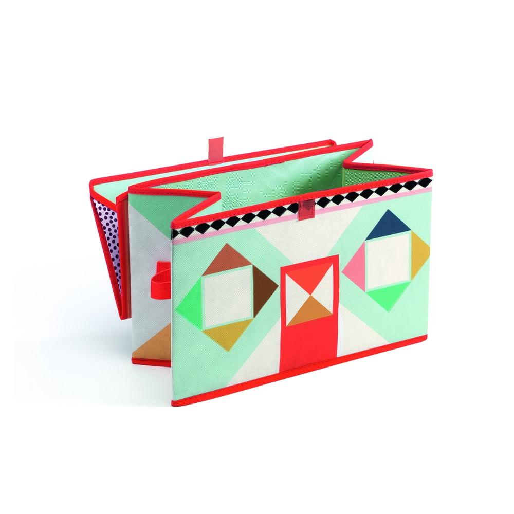 Pestrobarevná krabička na hračky Djeco Domeček
