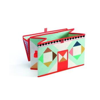 """Cutie depozitare jucării Djeco """"Căsuță"""", multicolor poza"""