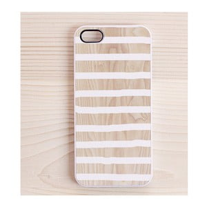 Obal na iPhone 4/4S, White Stripes in White
