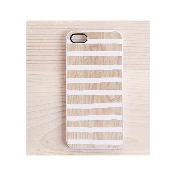 Obal na iPhone 4/4S, White Stripes in White