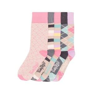 Sada 5 párů barevných ponožek Funky Steps Lori, vel. 35-39