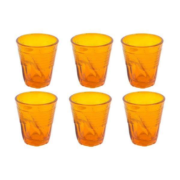 Sada 6 sklenic Kaleidos 200 ml, oranžová