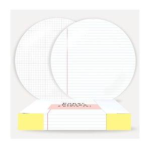 Sada 2 talířů z porcelánu U Studio Design Paper