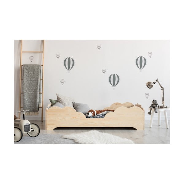 Dětská postel z borovicového dřeva Adeko BOX 10, 80x180 cm