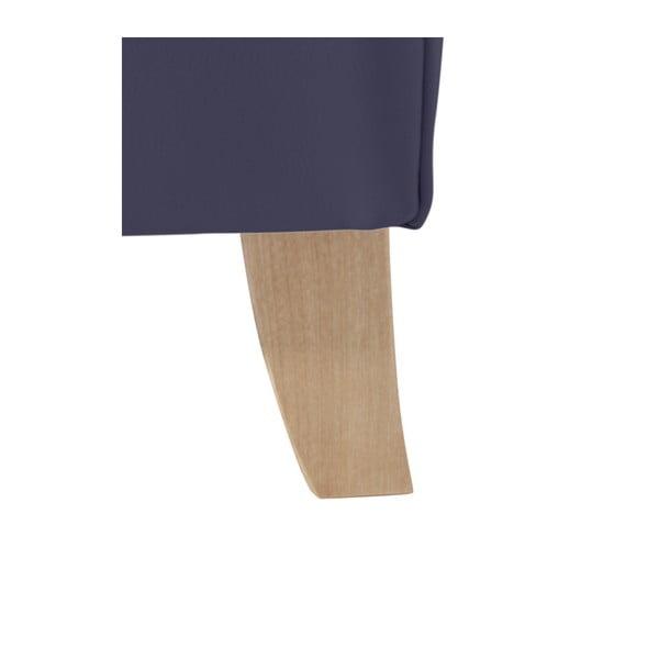 Tmavě modré koženkové křeslo ušák Max Winzer Bruno