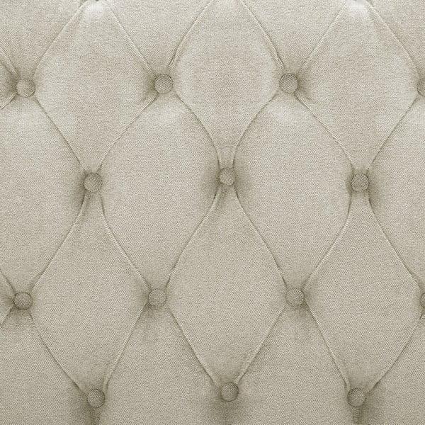 Krémová postel s přírodními nohami Vivonita Allon,180x200cm