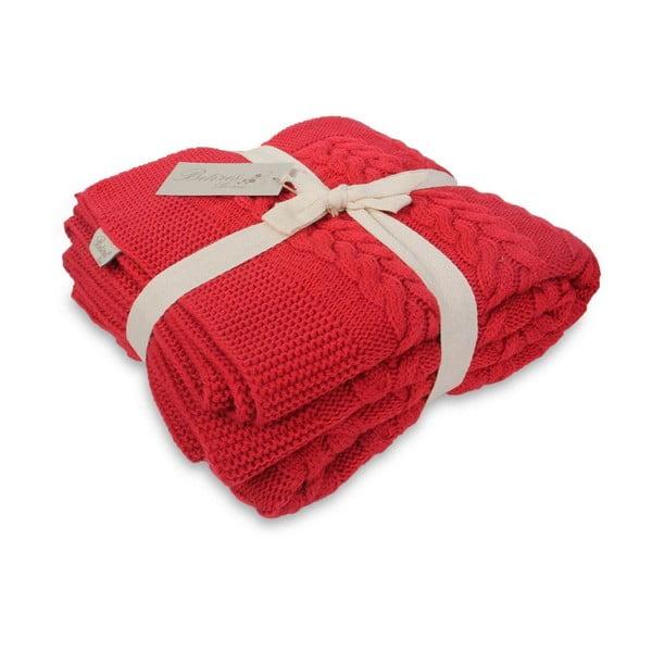Červený pléd na posteľ Tufalo, 130×170 cm