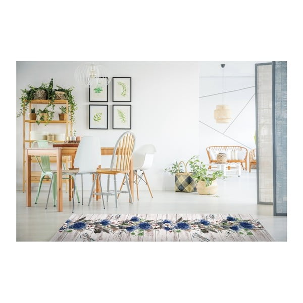 Covor foarte rezistent Floorita Fiori, 58 x 115 cm