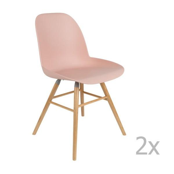 Sada 2 růžových židlí Zuiver Albert Kuip
