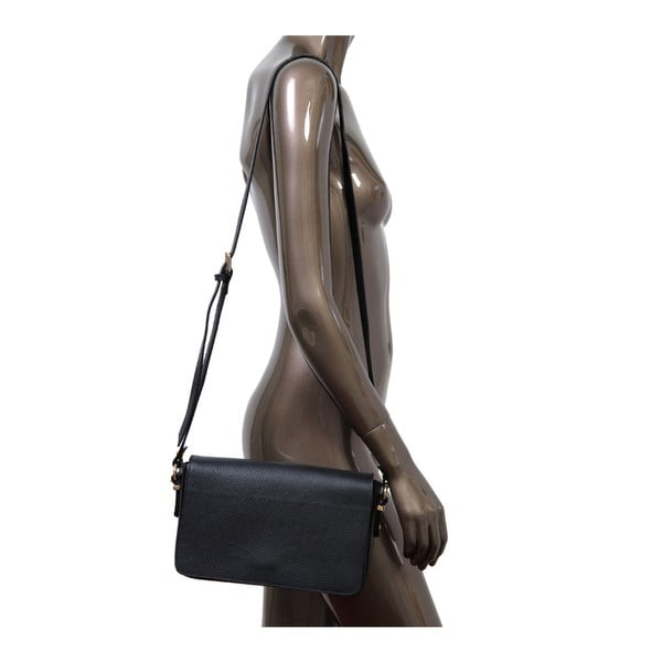 Černá kabelka z pravé kůže Andrea Cardone Nicol