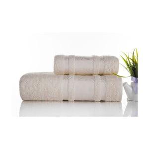 Sada 2ks ručníků Carmen Ecru, 50x90 a 70x140 cm