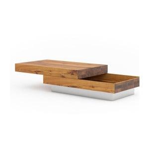 Konferenční stolek z dubového dřeva s úložným prostorem Javorina Blok