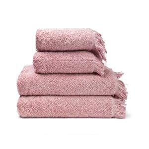 Set 2 růžových bavlněných ručníků a 2 osušek Casa Di Bassi Riad