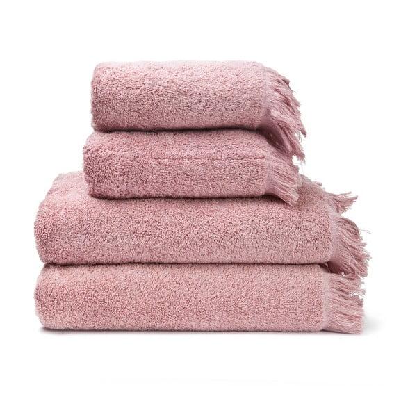 Set 4 prosoape din bumbac baie Casa Di Bassi Bath, roz