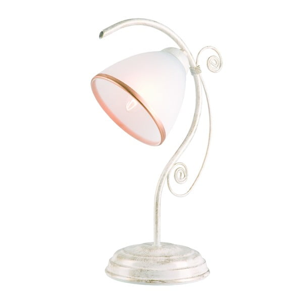 Bílá stolní lampa Lamkur Retro