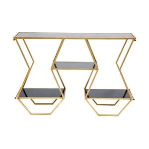 Konzolový stůl v černo-zlaté barvě Mauro Ferretti Egypt, 40 x 120 cm