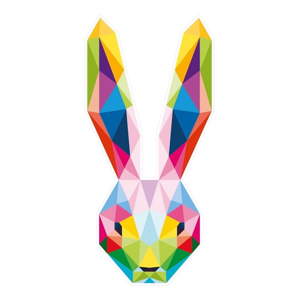 Nástěnná samolepka s geometrickým provedením Hare