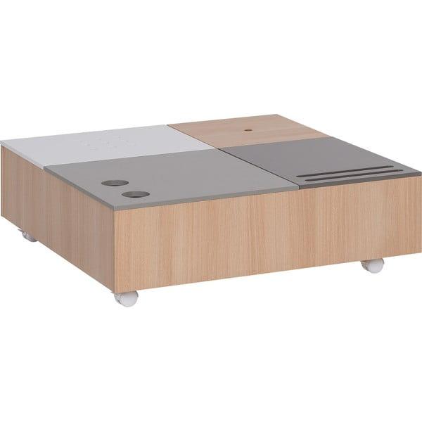 Multifunkční konferenční stolek na kolečkách s úložnými prostory Vox Custom