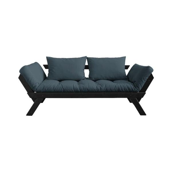 Canapea extensibilă Karup Design Bebop Black, albastru petrol