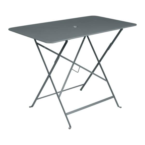 Šedý zahradní stolek Fermob Bistro, 97 x 57 cm
