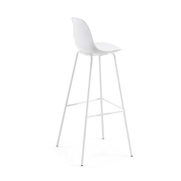 Sada 2 bílých barových židlí La Forma Lysna