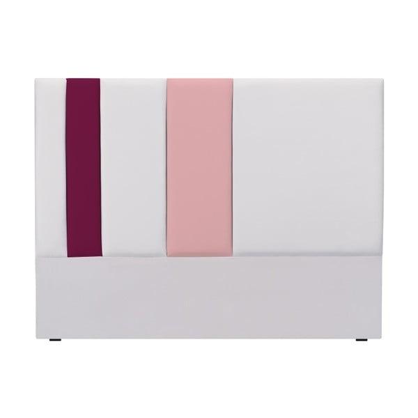 Šedo-růžové čelo postele Mazzini Sofas Dahlia, 120 x 200 cm