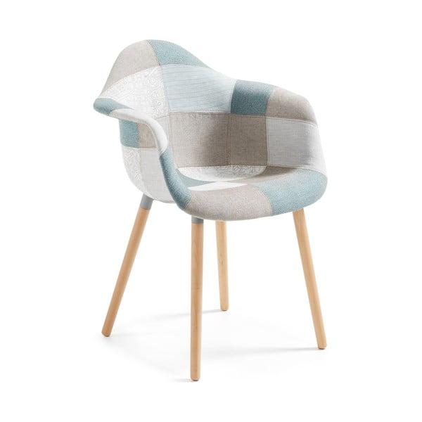 Kenna kék mintás fotel - La Forma
