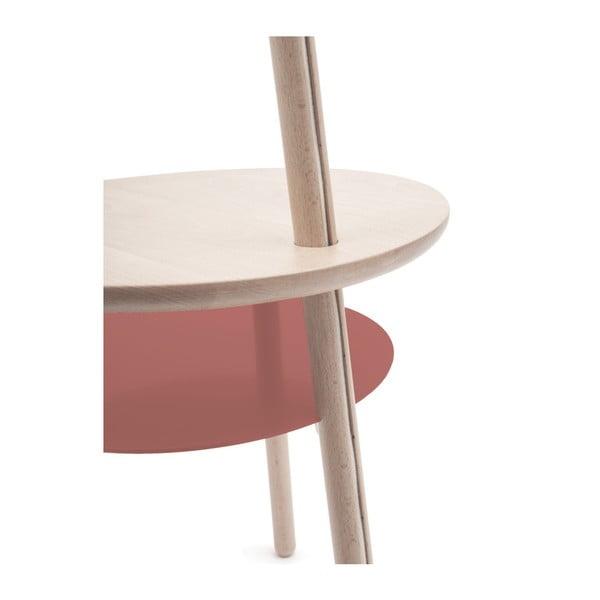 Tmavě růžová stolní lampa z jasanového dřeva HARTÔ Josette