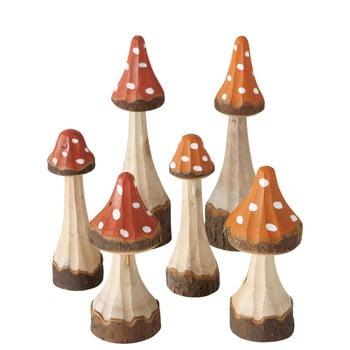 Set 6 decorațiuni din lemn de pin Boltze Tenia
