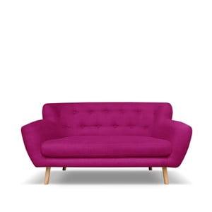 Tmavě růžová pohovka pro dva Cosmopolitan design London