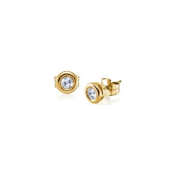 Náušnice s diamantem, zlaté