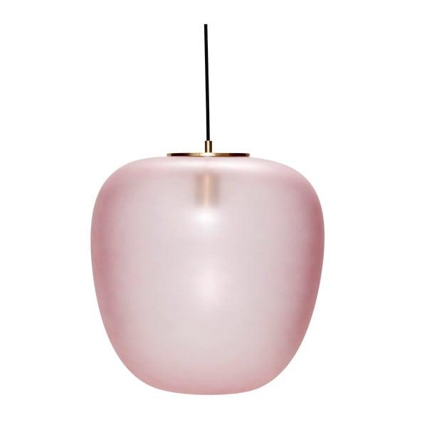 Ružové závesné svietidlo Hübsch Luno