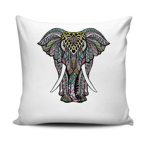Černobílý polštář Home de Bleu Tropical Elephant, 43x43cm