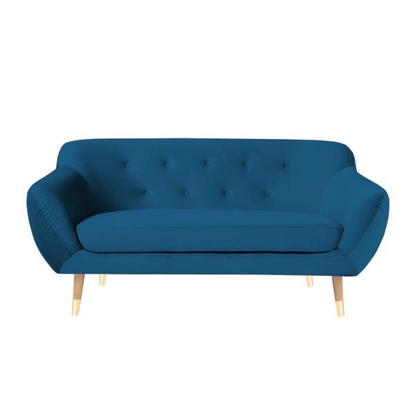 Modrá dvoumístná pohovka Mazzini Sofas Amelie