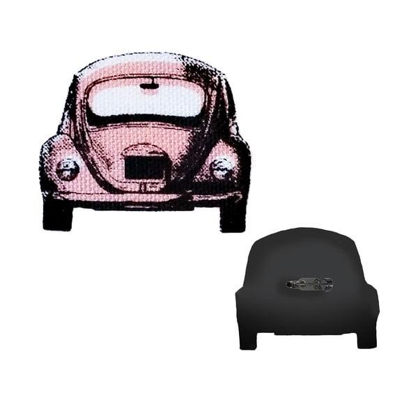 Brož Růžové autíčko Valentýn od Lucie Markové