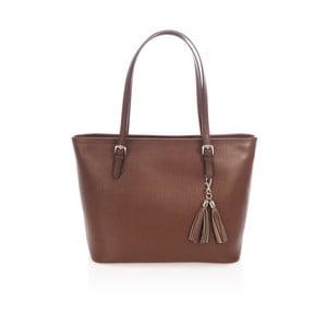 Hnědá kožená kabelka Lisa Minardi Brassolea