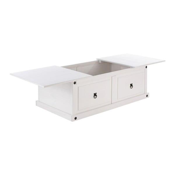 Bílý odkládací stolek z borovicového dřeva Støraa Alfredo