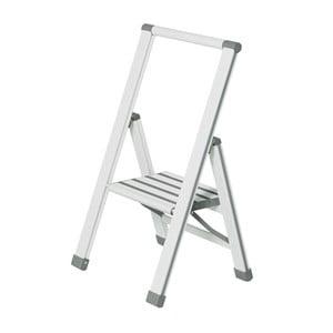 Bílé skládací schůdky Wenko Ladder Alu, 74 cm