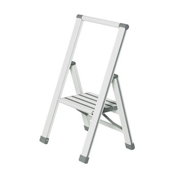 Scără pliantă Wenko Ladder Alu, 74 cm, alb imagine