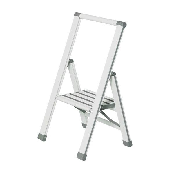 Ladder Alu fehér összecsukható fellépő, magasság 74 cm - Wenko