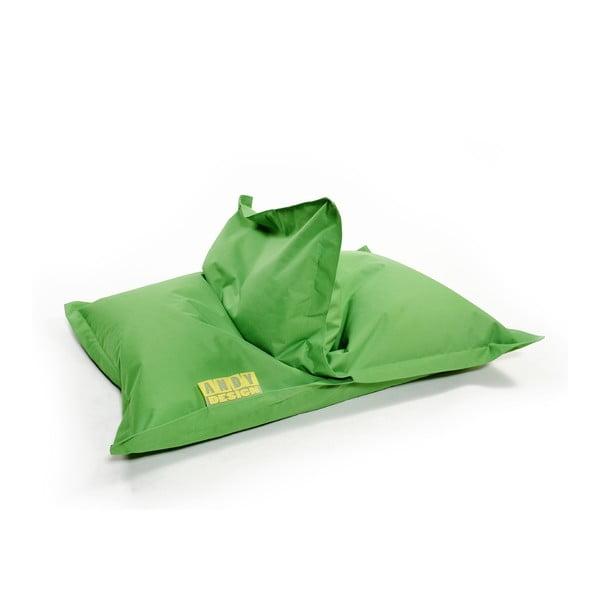 Zelený vak s opěradlem