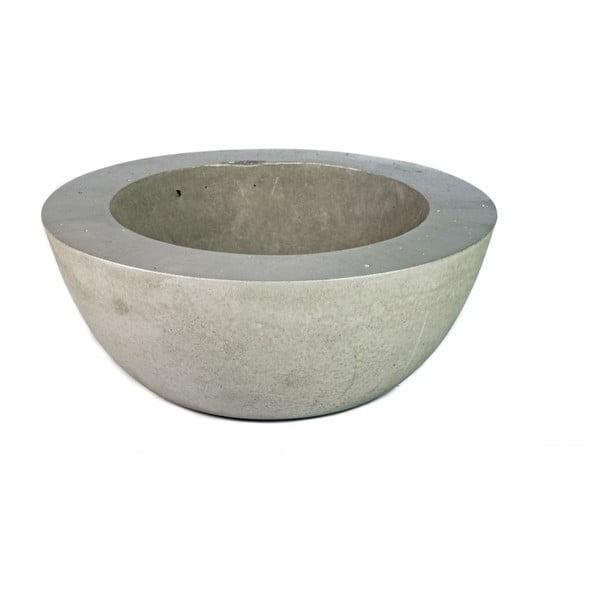 Malá betonová mísa, stříbrná