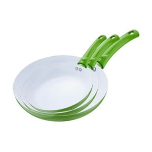 Set pánví Frying Pan Green, 3 ks