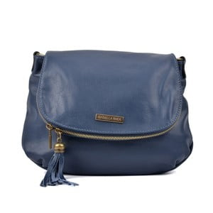 Modrá kožená kabelka Isabella Rhea Margona
