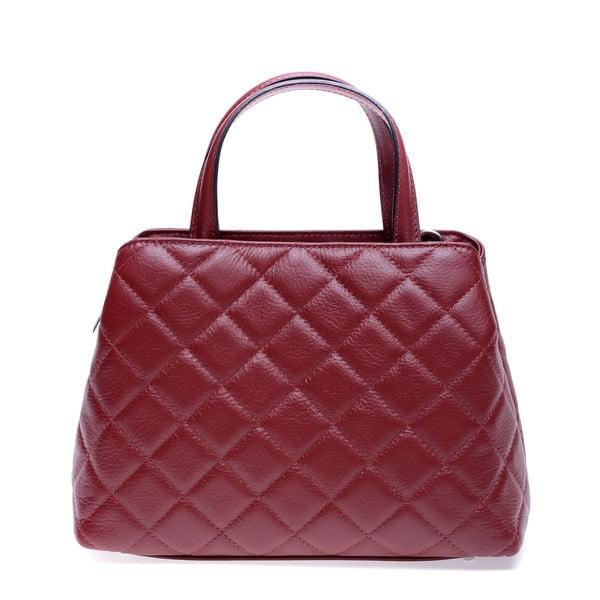Červená kožená kabelka Roberta M Allesia