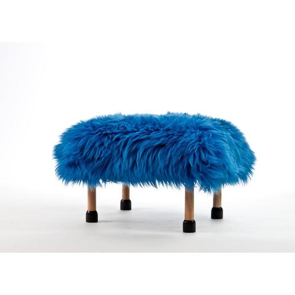 Stolička z ovčí kůže Nia Cornflower Blue